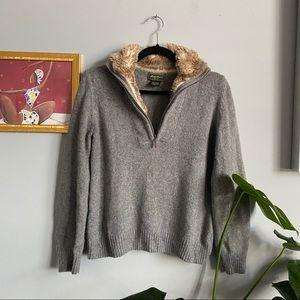 Eddie Bauer Faux Fur Sweater